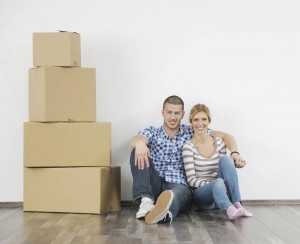 First Time Homebuyers in Their New Home