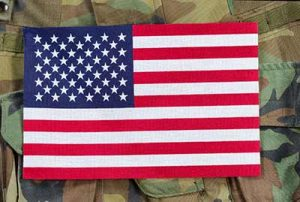 American Flag on Veteran's Uniform