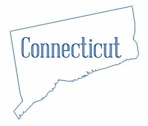 outline of the state of Connecticut